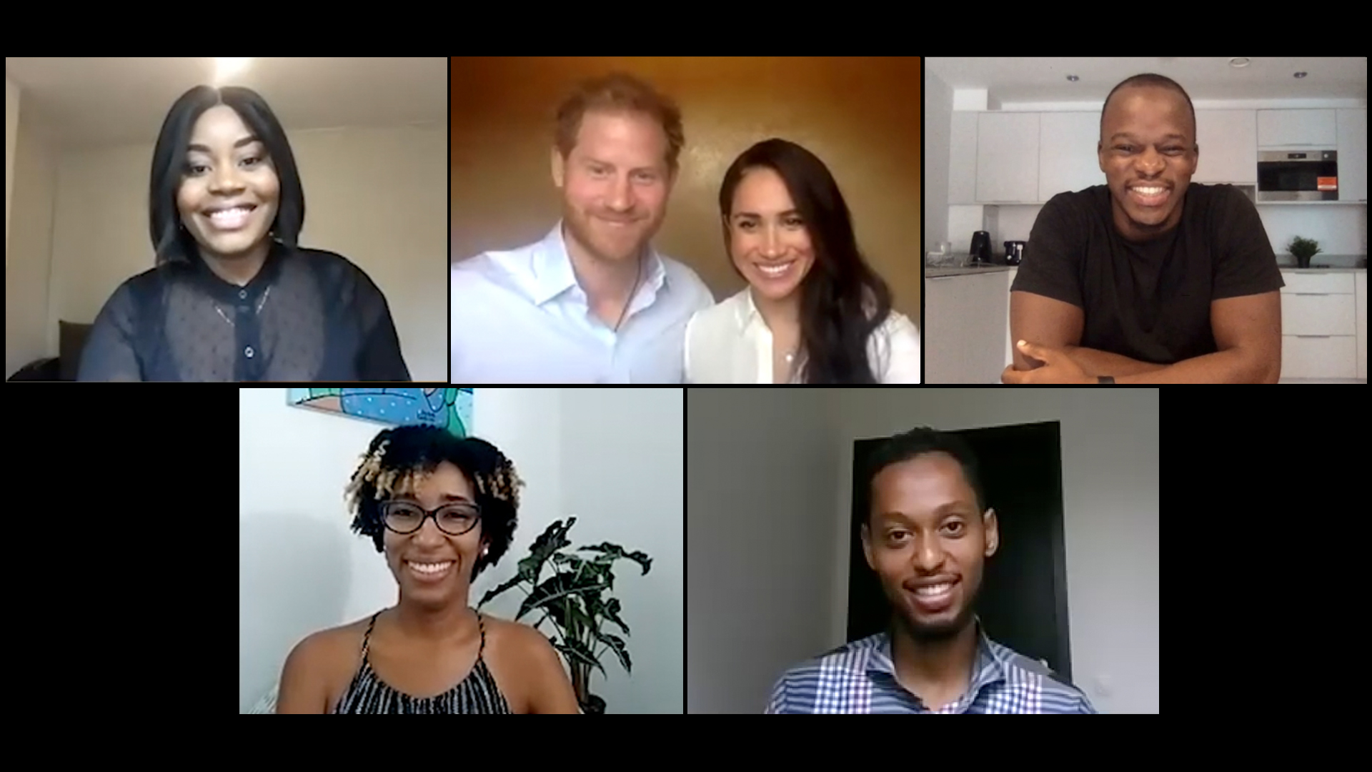 Prince Harry and Meghan Markle speak with TCS Network Founder